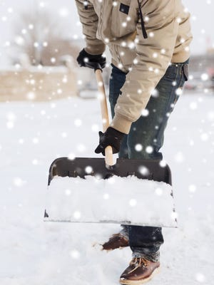 Don't lift snow. Push as much of it as you can. If you must lift, lift directly in front of you.