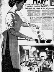 An advertisement featuring Typhoid Mary.
