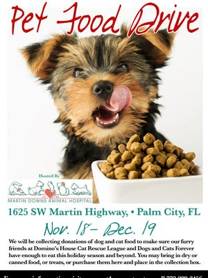 Martin Downs Animal Hospital is hosting a pet food drive.