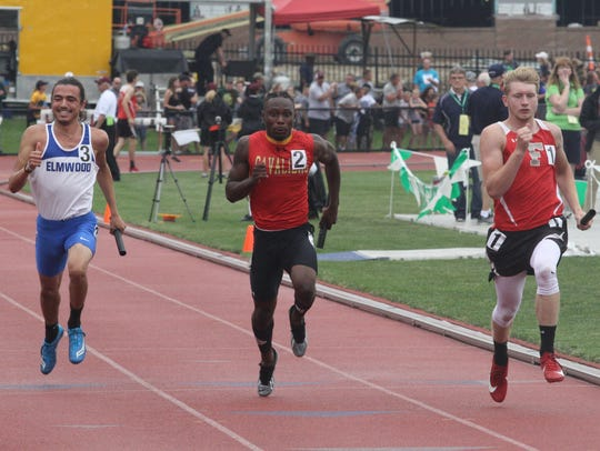 Purcell Marian's Nylan Mosley sprints to the finish