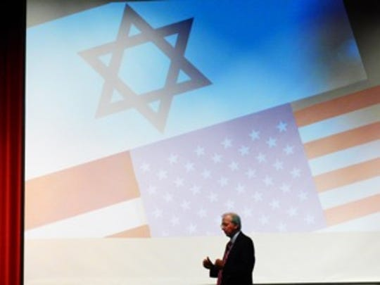 Former Ambassador Dennis Ross is seen speaking at York College in York, Pa., in this 2016 photo.