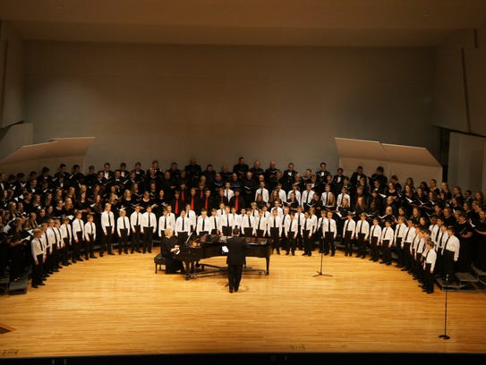 """A group photo from the 2016 """"A Choral Community"""" concert."""