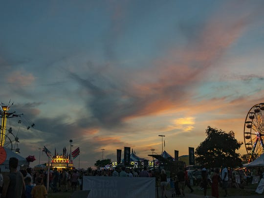 Night falls over a past Liberty Fest.