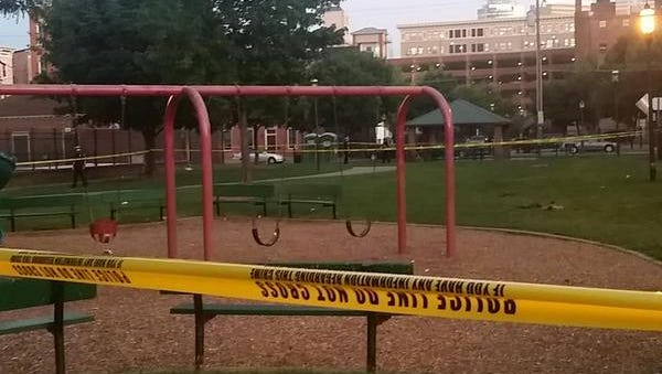 A man was shot multiple times at a playground in Ziegler Park Wednesday night.