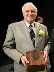 Frank Yeager, 78, poses after he was recognized as a Distinguished Alumni at Centre College Homecoming in November. From 1961 till the president's assassination, Yeager was assigned to President John F. Kennedy's Secret Service detail. He was in Austin, Texas preparing for the president's arrival from Dallas on Nov. 22, 1963.