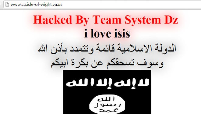 Isle of Wight County government website hacked by pro ISIS group