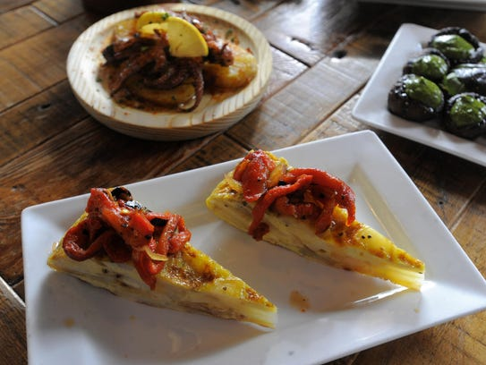 The classic tortilla Espagnola is made with fried potatoes,