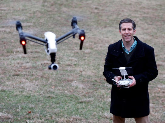 Vincent Garrison of Nanuet, owner of Flying Films NY,
