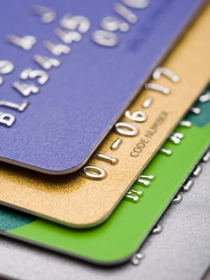 Credit cards are shown in this file photo.