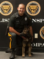 Evesham Twp Police Joseph Czyzewski and his K-9 partner,