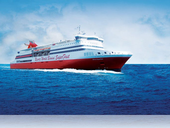 Cruise Ship Tour Inside The Resorts World Bimini SuperFast - Bimini superfast cruise ship