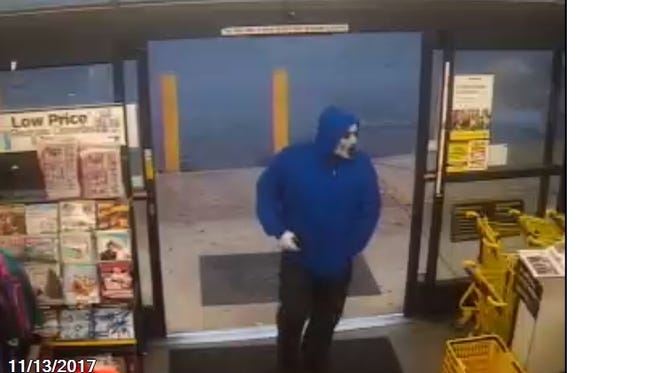 The photo seen here was taken during an armed robbery on Nov. 13, 2017 at the Dollar General on Brushy Creek Road in Greenville County