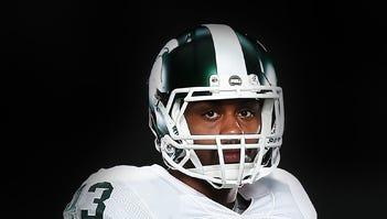 Michigan State linebacker Ed Davis