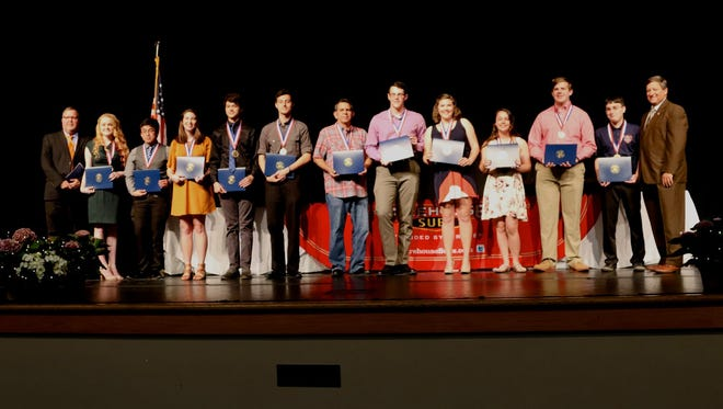 2018 Senior Academic Award winners from Escambia High School