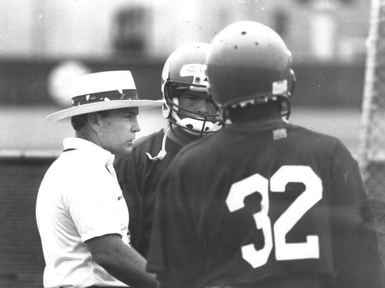 REPORTER-NEWS FILE PHOTO Randy Allen, a Cooper graduate who coached at Ballinger, Brownwood and his alma mater before taking over Highland Park's football program, retired after winning his third state championship.