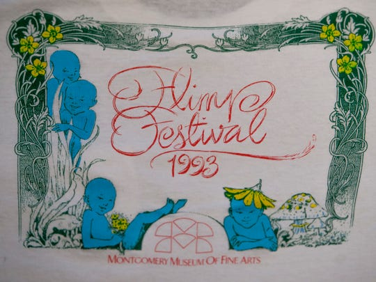 An early t-shirt design for the Flimp Festival held at the Montgomery Museum of Fine Arts.