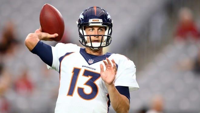 Trevor Siemian will be the starting quarterback for the defending-champion Denver Broncos on opening night.