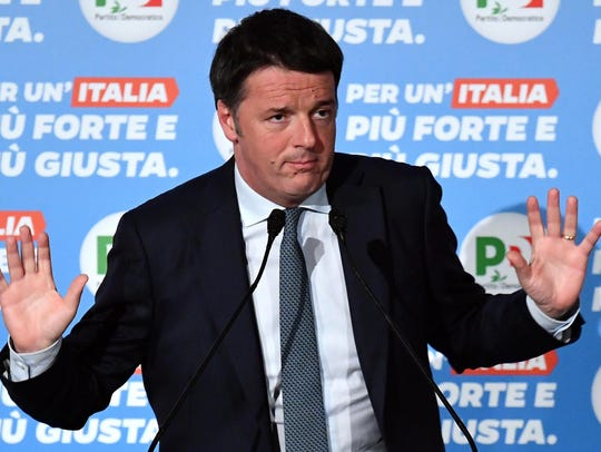 Italian former premier and leader of the Italian Democratic