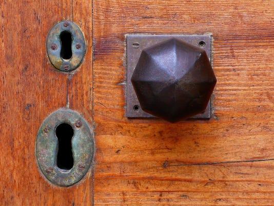 Double locked door.