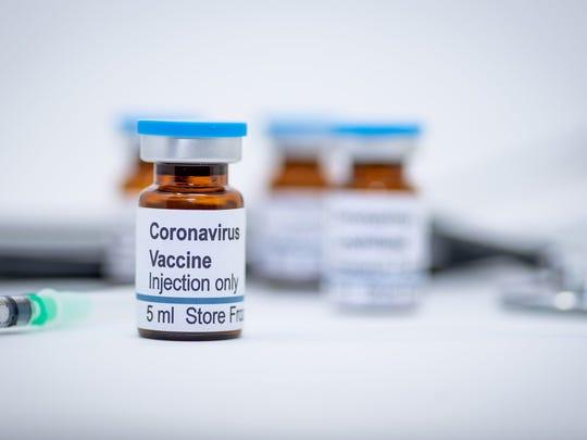 Coronavirus vaccine bottles