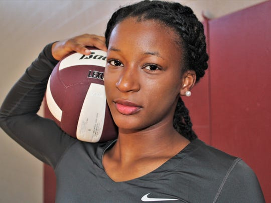 Trinity Wiliams is the Rams top scoring threat in volleyball.
