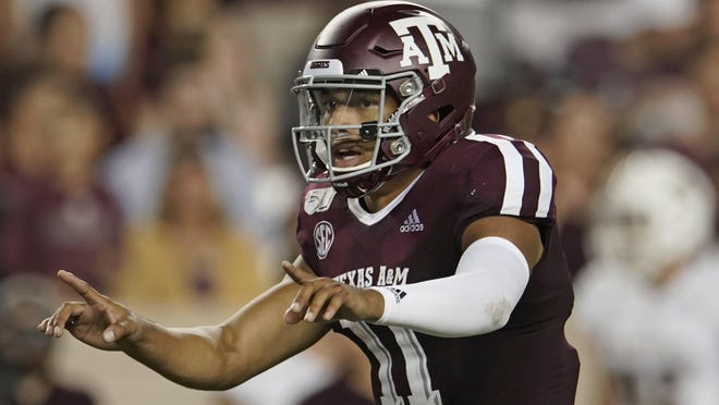 Quarterback Kellen Mond will lead No. 10 Texas A&M in the opener against Vanderbilt on Saturday at Kyle Field in College Station. Mond will begin his fourth season as a starter with 37 games under his belt.