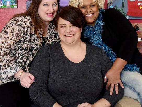 Three artists Karen LaBeau, Marci Hicks and Lynn Laird