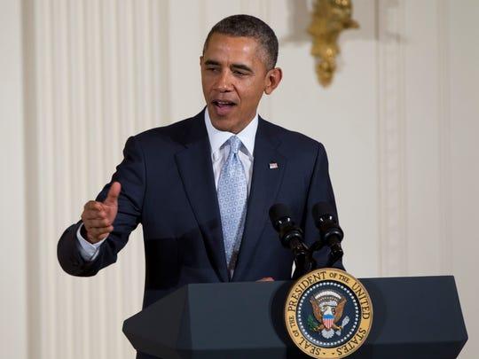 President Obama speaks during the Easter Prayer Breakfast