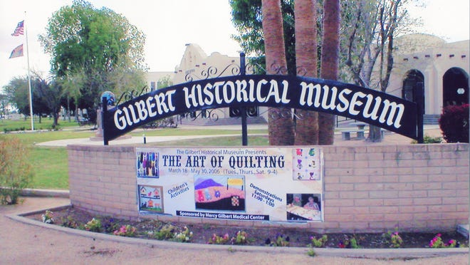 The Gilbert Historical Museum from the southwest corner of Elliot and Gilbert Road.