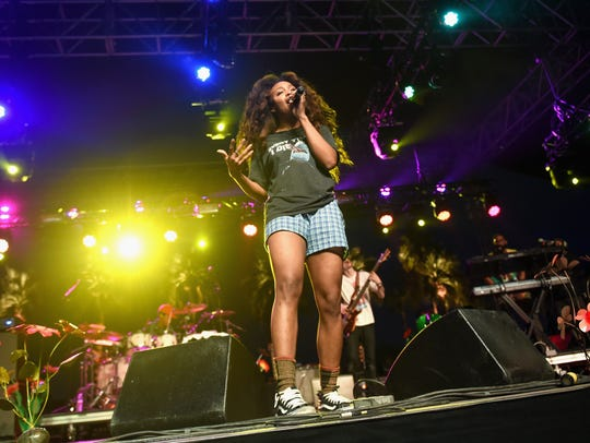 Singer SZA performs onstage during day 2 of the 2016