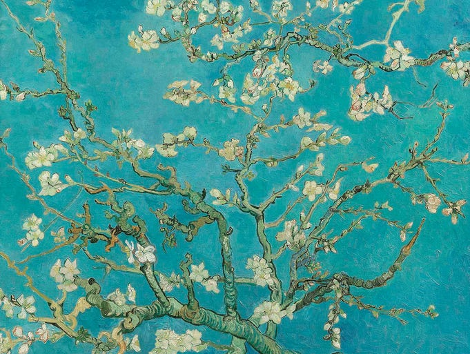 "An 1890 painting by Vincent Van Gogh entitled ""Almond Blossoms."" Even if you have $100 million or so to spend on a famous painting, the original masterpieces of Vincent Van Gogh are not for sale. But for $35,000 you can purchase a three-dimensional reproduction."