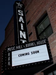 The Saint's marquee.