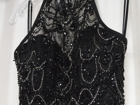 Black is a popular prom dress color this year. Sue