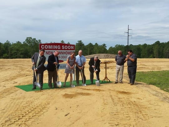 Groundbreaking ceremony for an affordable housing project