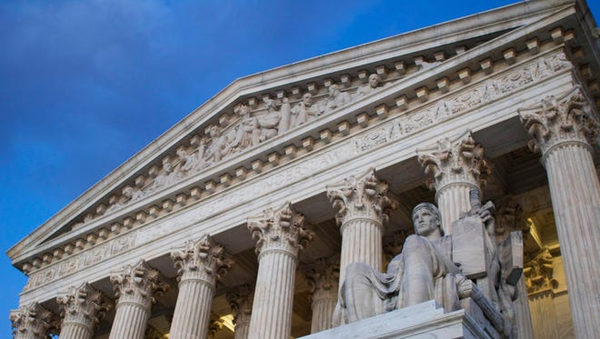 In this Feb. 13, 2016 file photo, shows the U.S. Supreme Court building in Washington, D.C.