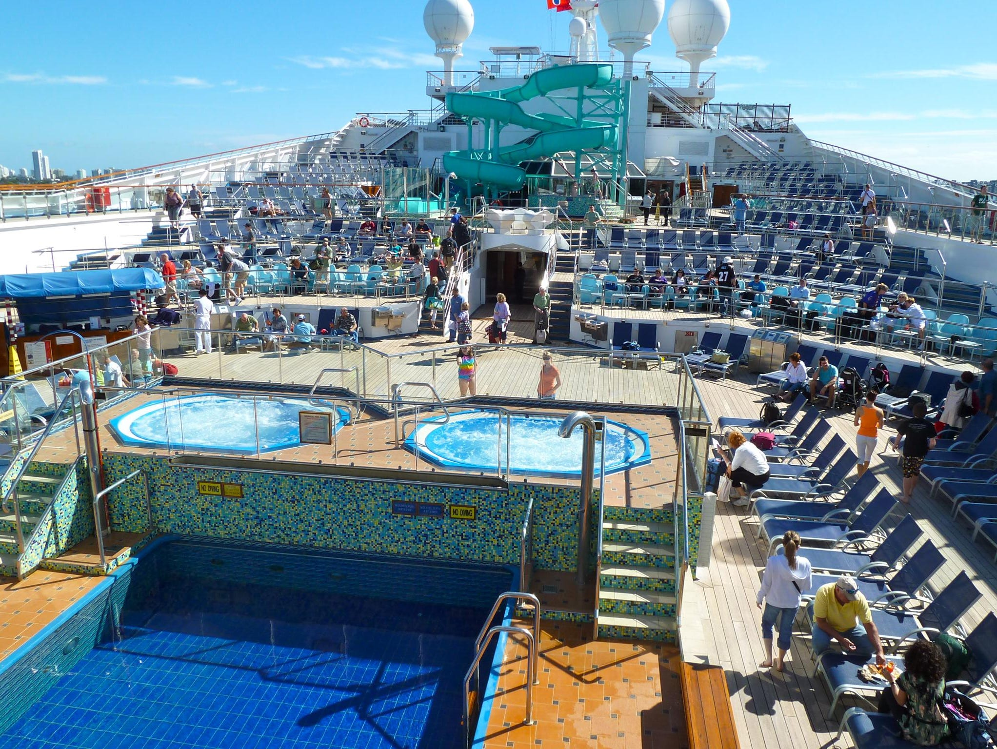 Here is a forward facing view from the aft portion of Deck 12.
