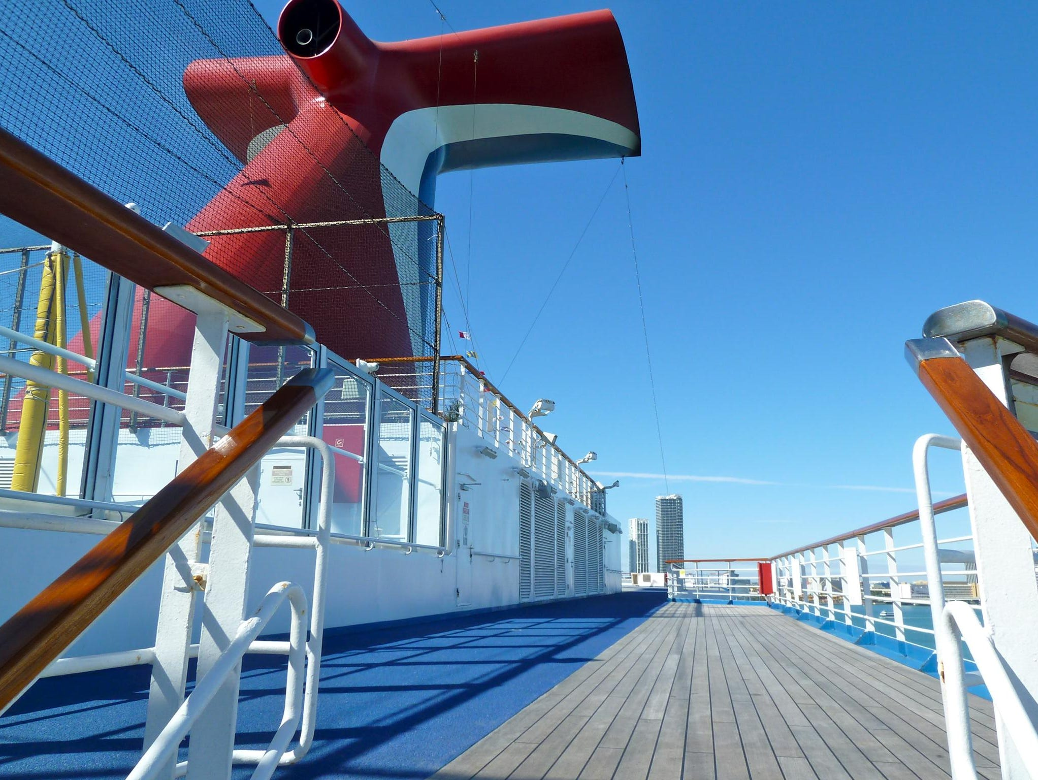 Aft Deck 11 features yet more teak decking for sunning and promenades as well as a jogging track.