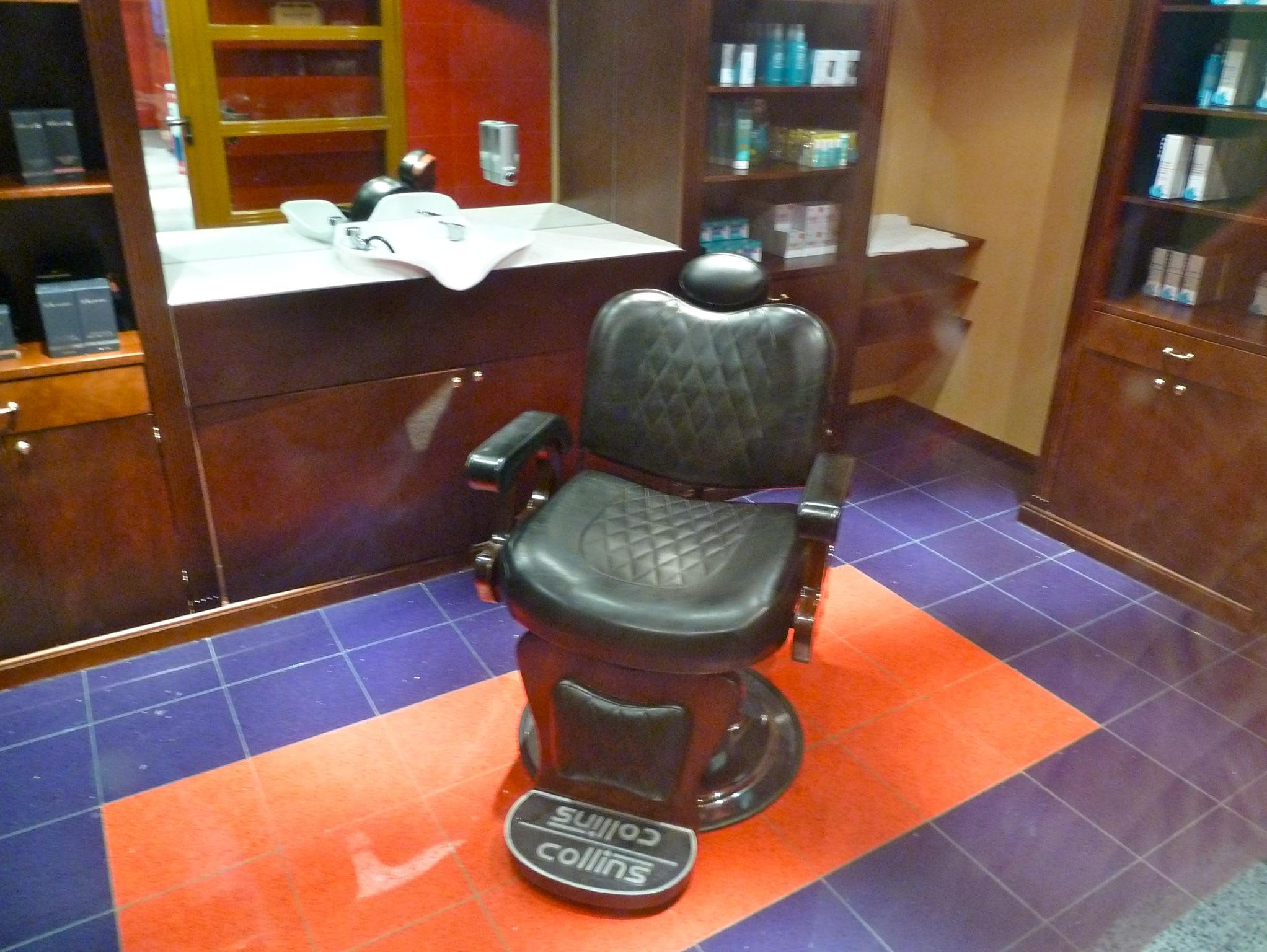 In addition to the Beauty Salon, the Carnival Spa has a separate Barber Shop.