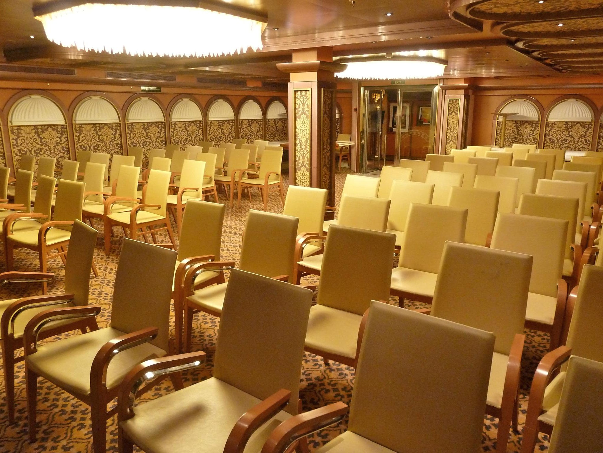 The Capital Conference room seats 100 guests on Deck 4.