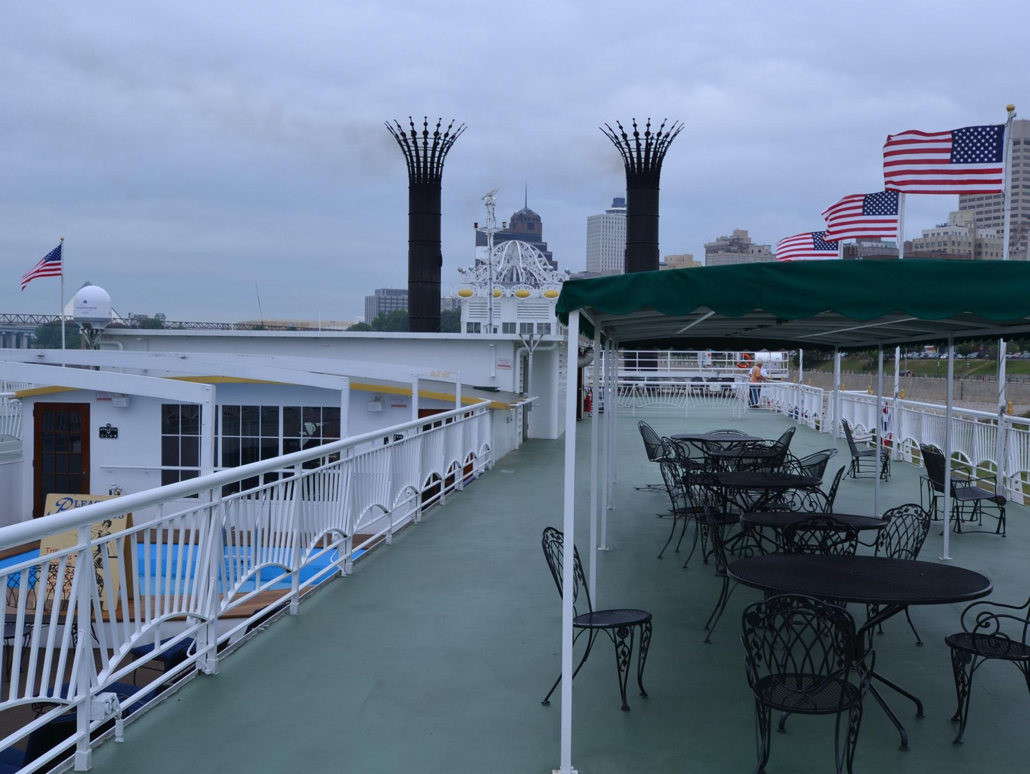 The Sun Deck also features seating areas from where passengers can view passing attractions.
