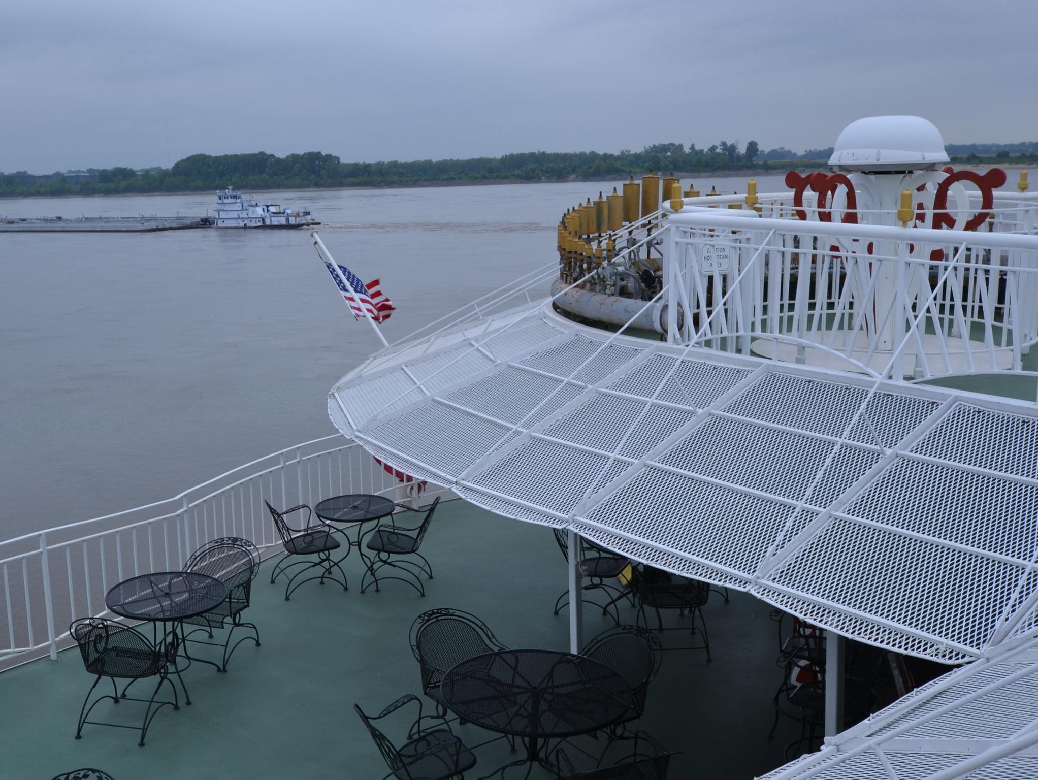 The American Queen is U.S.-flagged and carries a U.S. crew, with many of the ship's workers coming from the Memphis area.