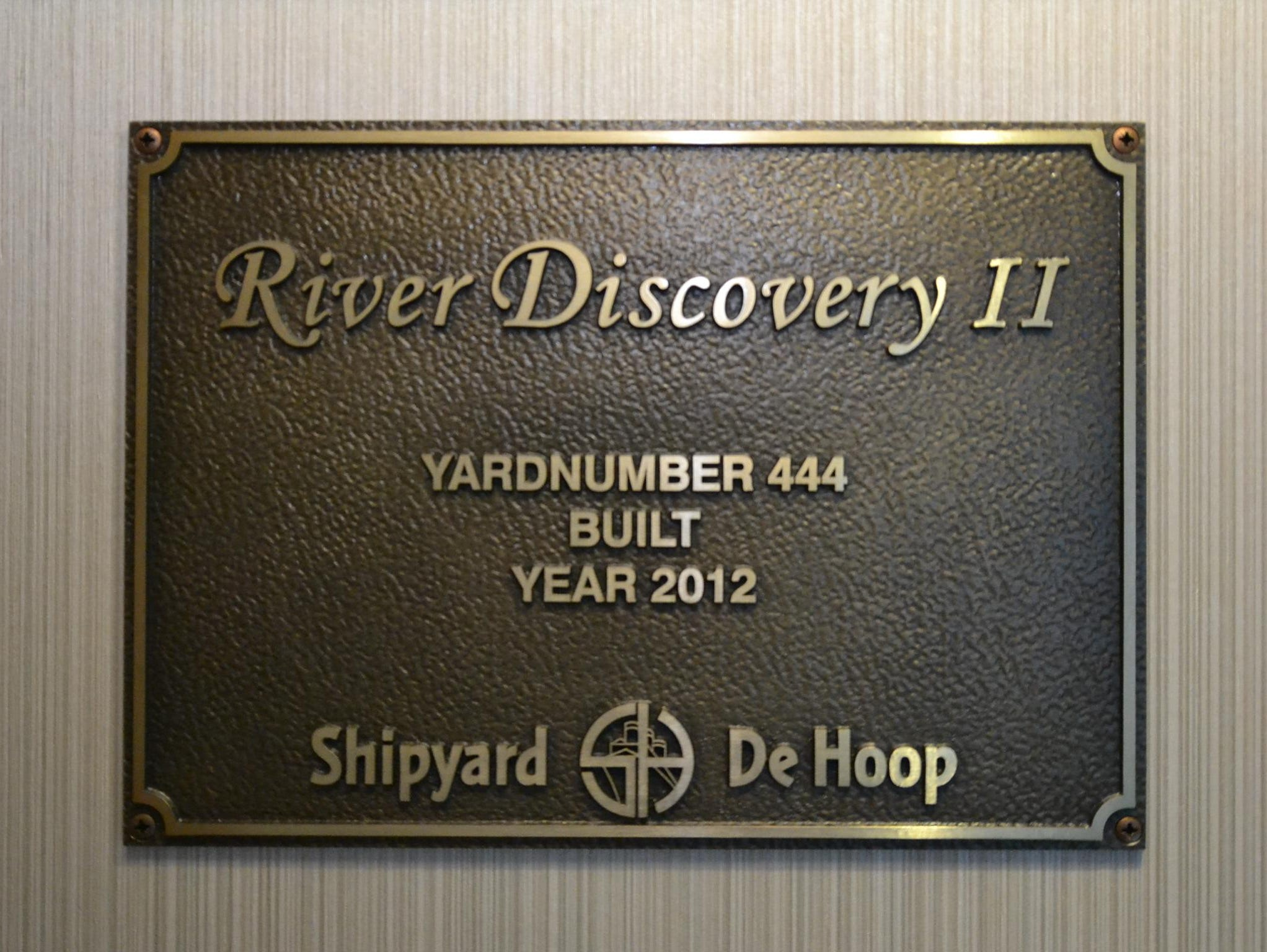 Designed to sail on the Rhine and other European rivers, River Discovery II was built at The Netherlands' Shipyard deHoop.