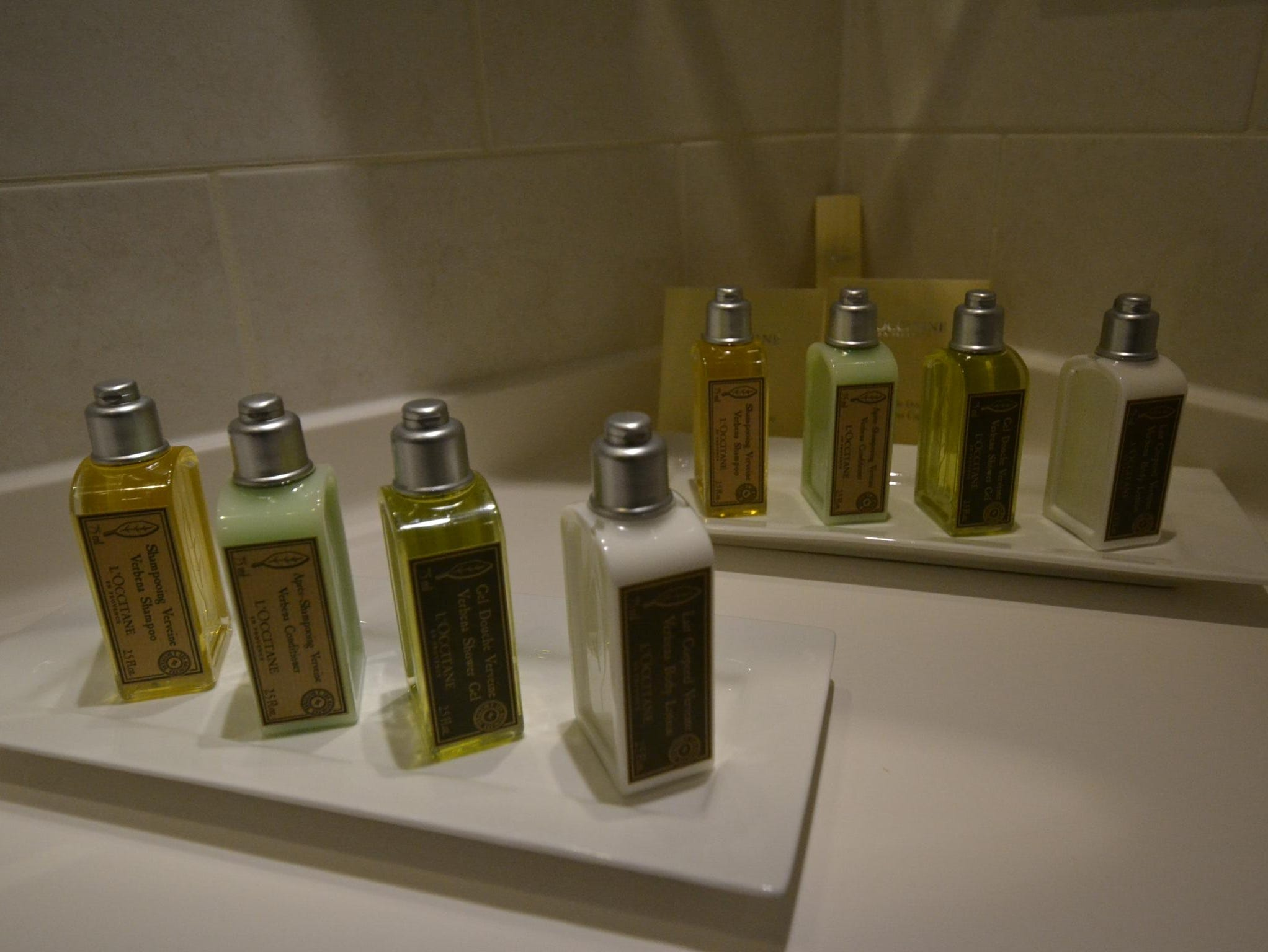 All cabins on the River Discovery II are stocked with L'Occitane bathroom products.