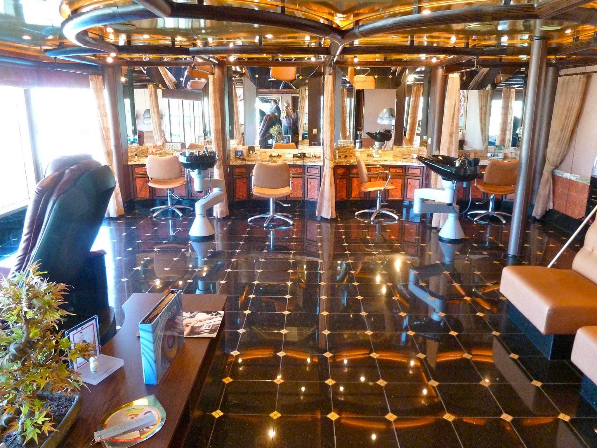 The Beauty Salon is at the aft end of the Samsara Spa on Orchidea Deck.