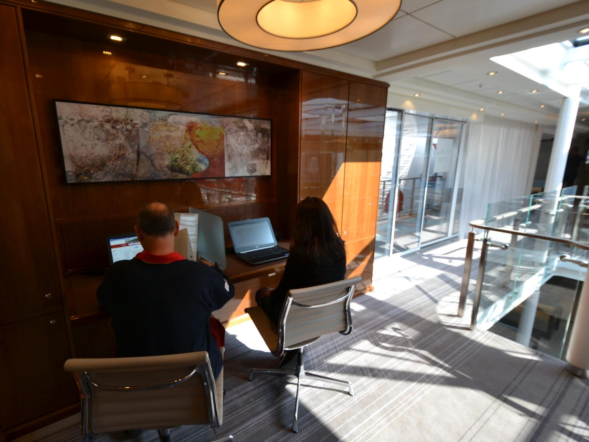 The Viking Odin has a small computer station with two computers for accessing the Internet. Passengers also can log onto the Internet from their rooms and the ship's public areas via a wireless internet signal.