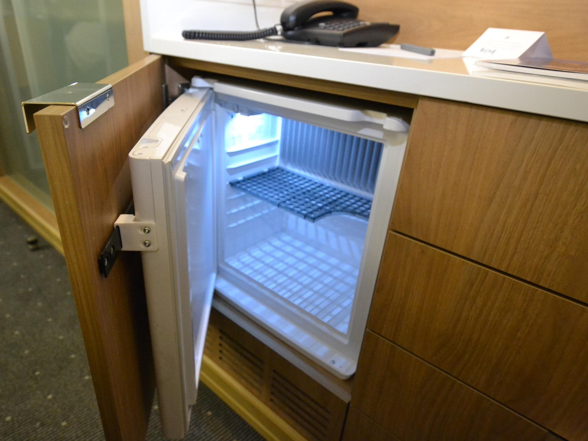 Each French Balcony Stateroom has a miniature refrigerator.