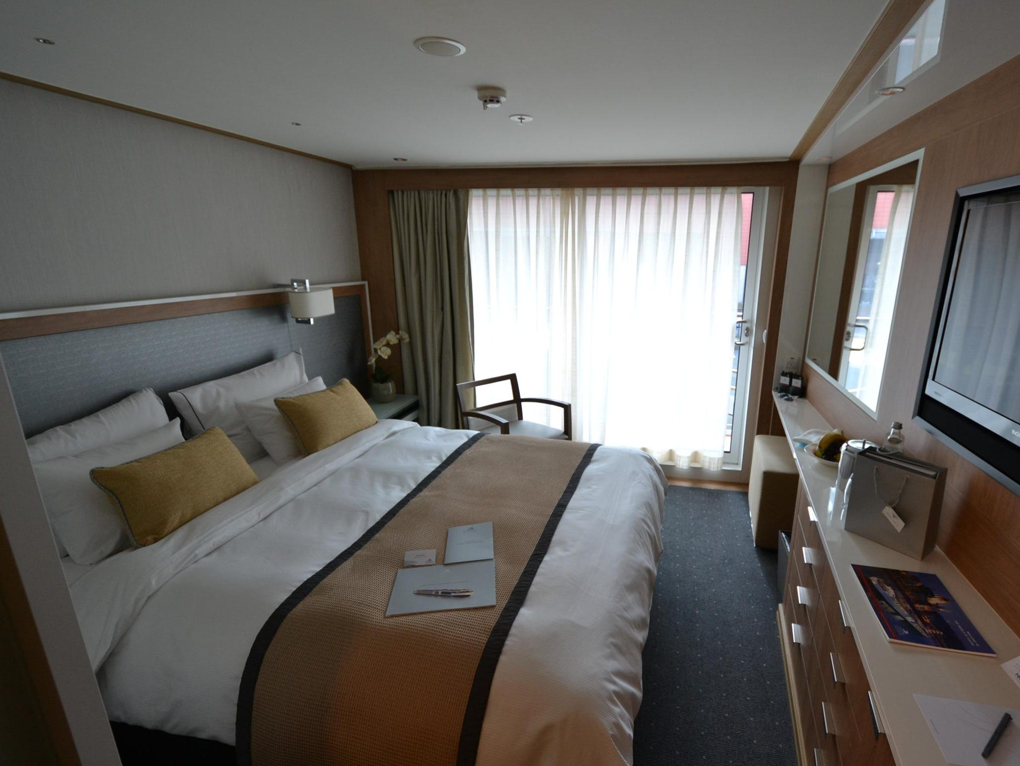 In addition to suites, the Viking Odin has 39 cabins that come with balconies, an unusual feature on river ships.
