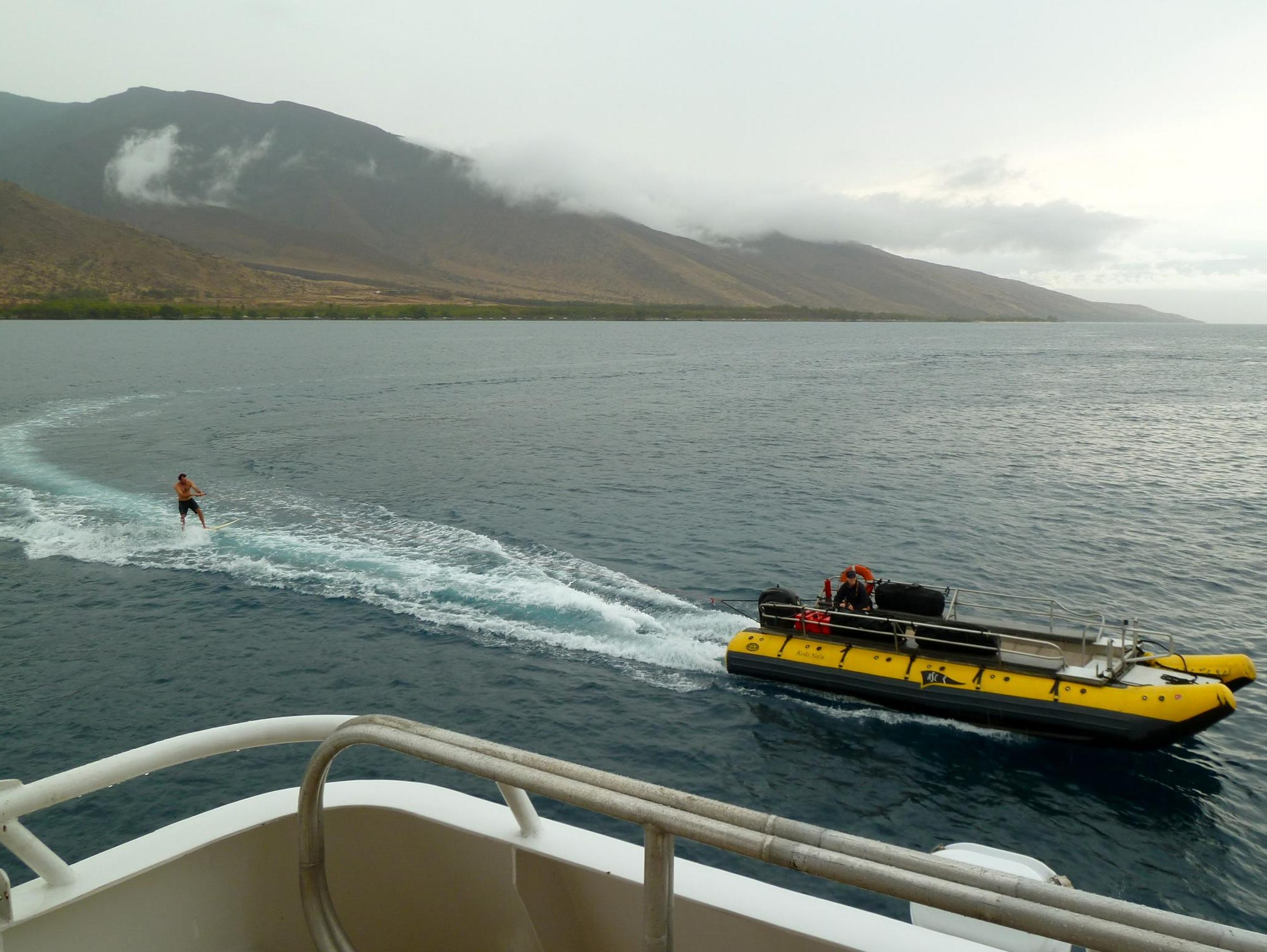 Guests also have the opportunity to wakeboard off the Safari Explorer's skiffs.