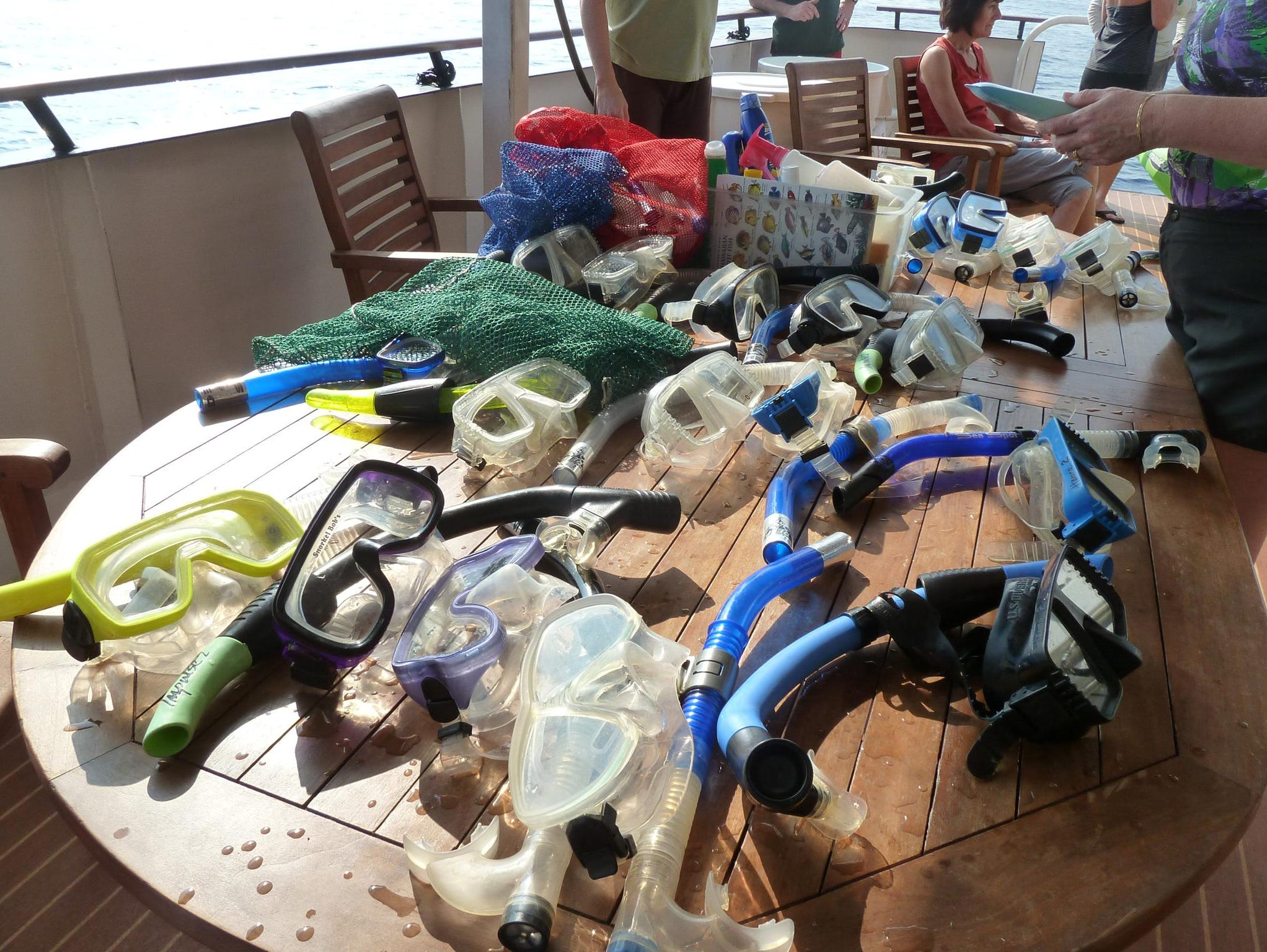 On Hawaiian itineraries, snorkels, masks and fins are provided to all guests.