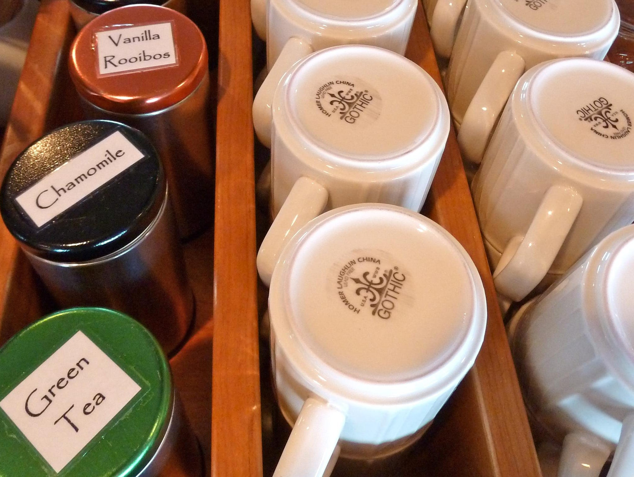 Teas and coffee are also available round-the-clock.